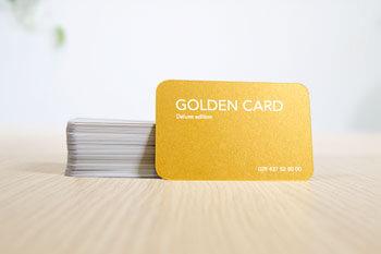 cartes visite metallisees