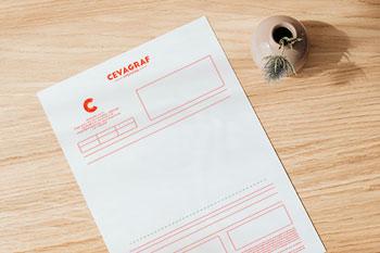 papier a lettres factures predecoupe